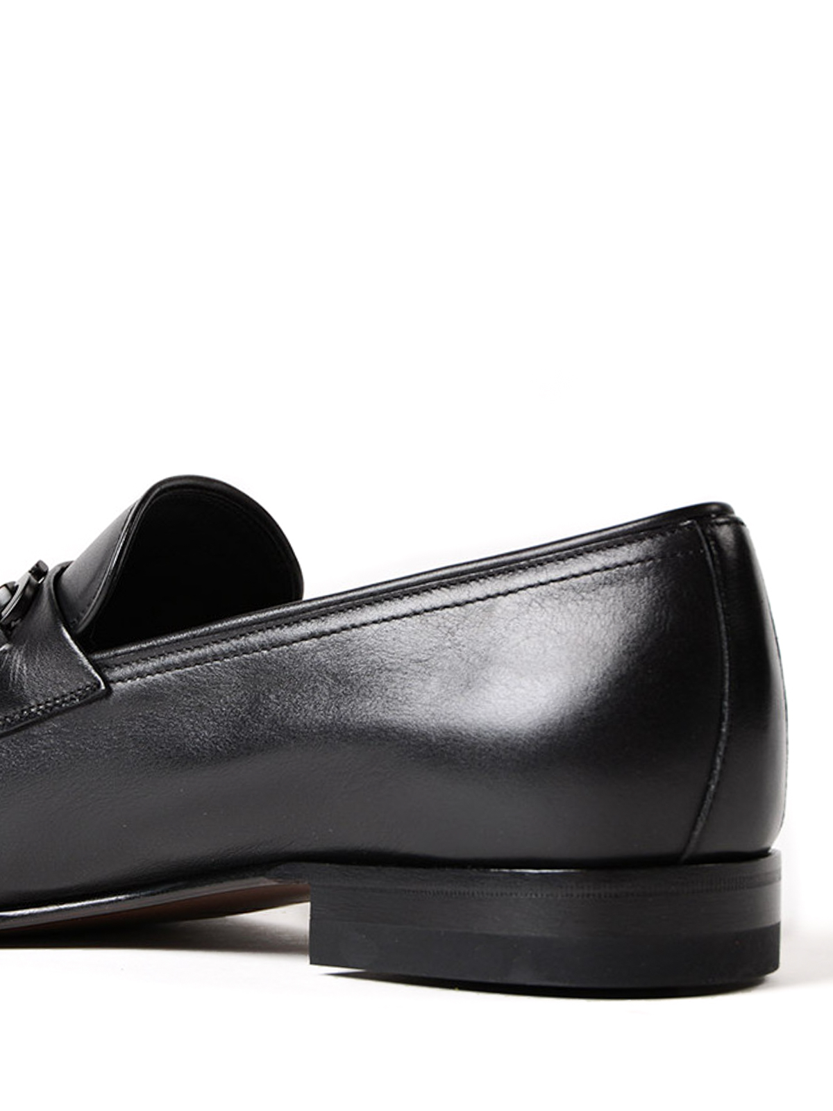 Gancini bit black leather loafers shop online: Salvatore Ferragamo
