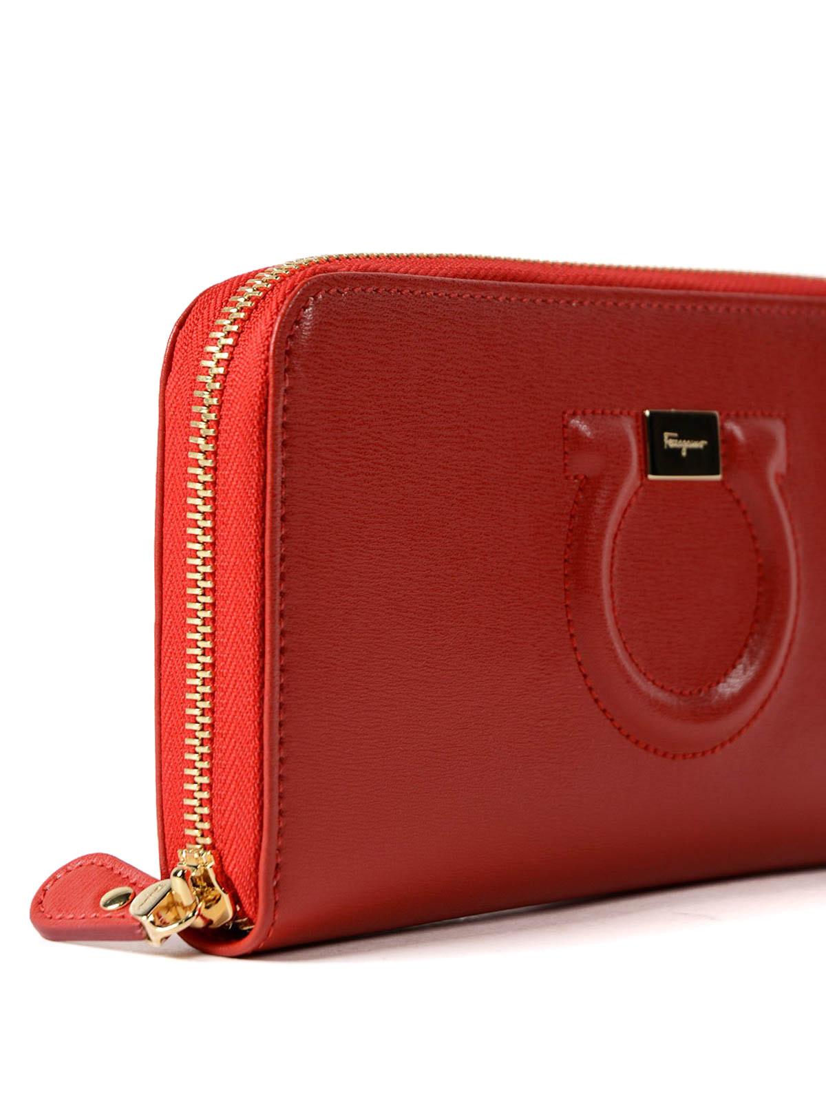 1a7f34a6c1c41 Salvatore Ferragamo - Gancini leather continental wallet - wallets ...