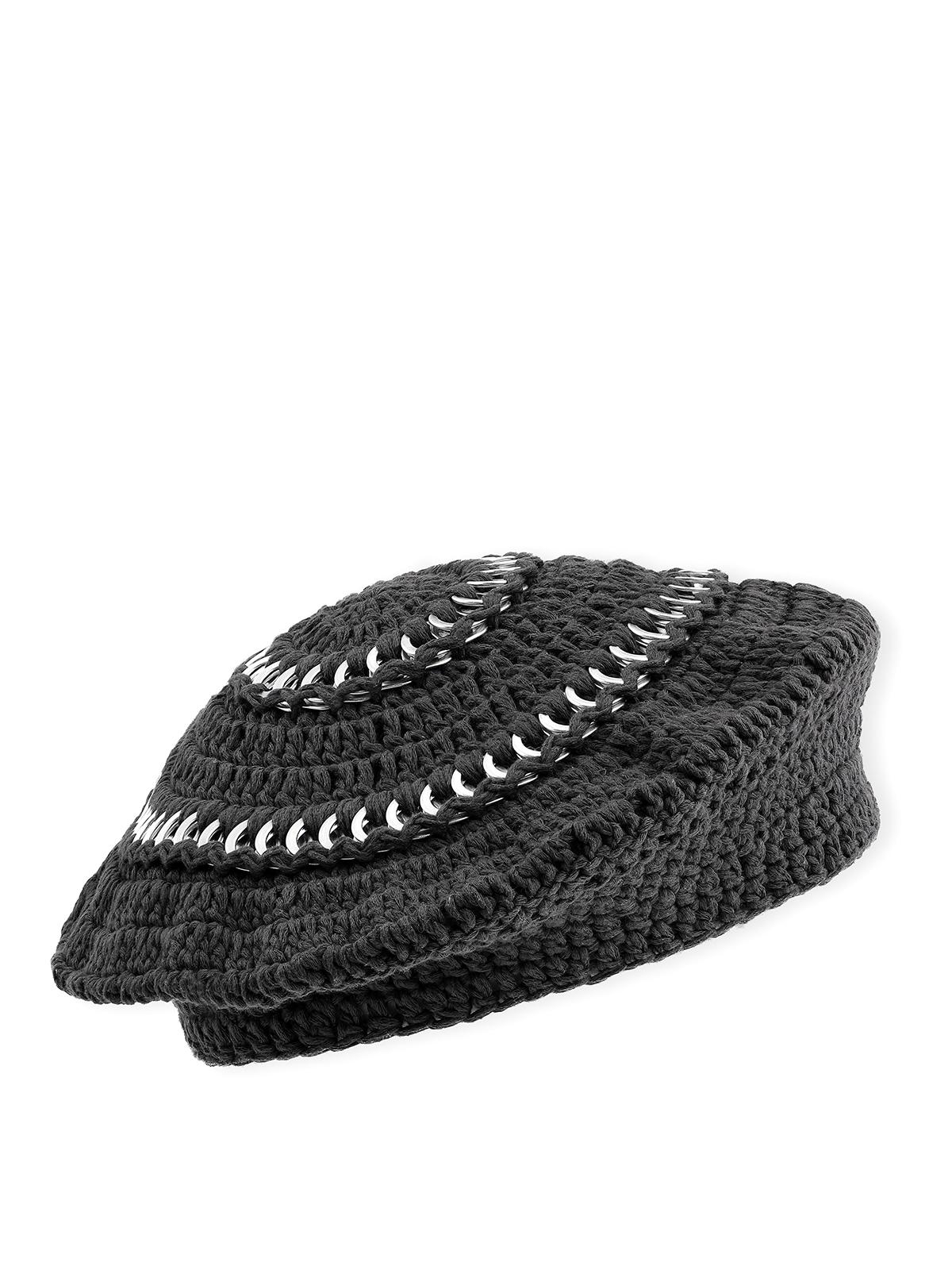 Ganni BRAIDED COTTON HAT