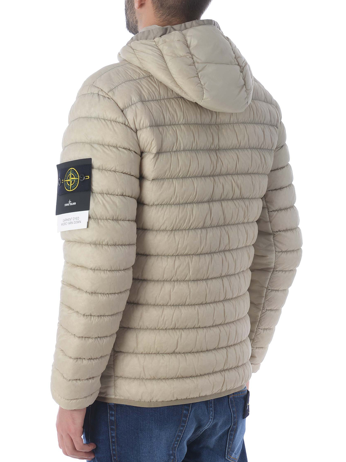 newest official images best value Stone Island - Garment Dyed Micro Yarn Down puffer jacket - padded ...