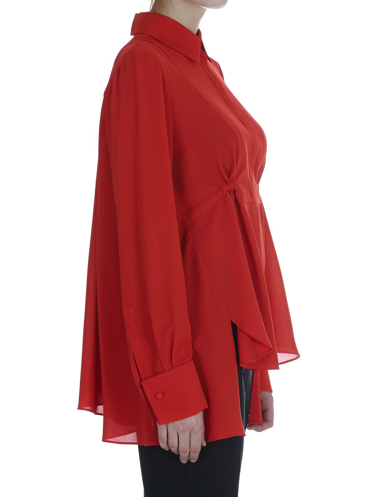 108c69e0a270ac Alexander Mcqueen - Gathered silk blouse - blouses - 460572QIB076530