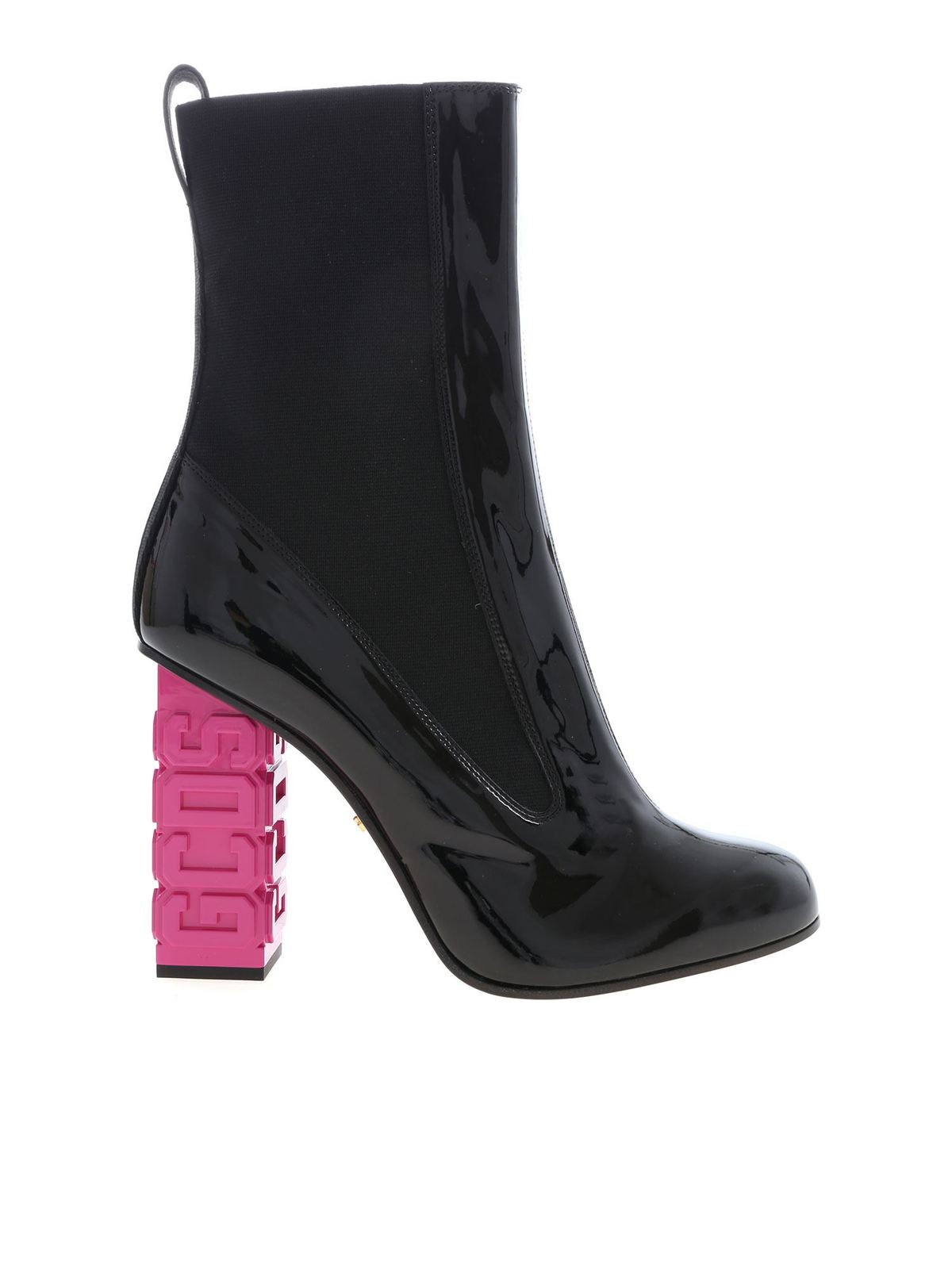 Gcds ANKLE BOOTS IN BLACK PATENT LEATHER