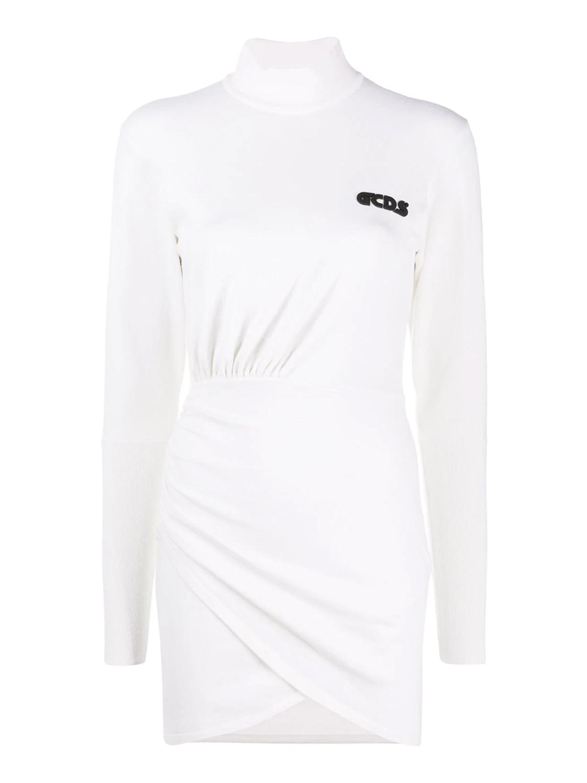 Gcds DRAPES DETAILED WOOL BLEND DRESS