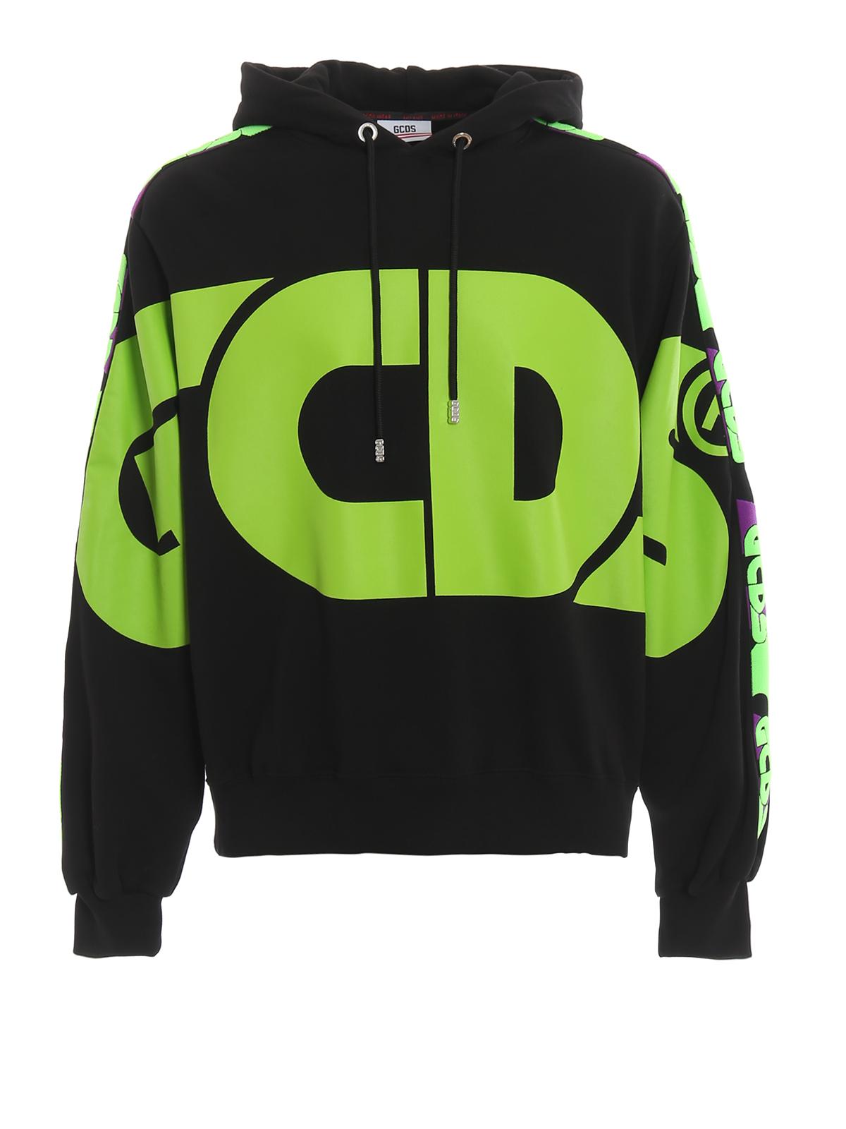 Gcds Maxi Logo Print Hoodie Sweatshirts Sweaters Fw20m02001102