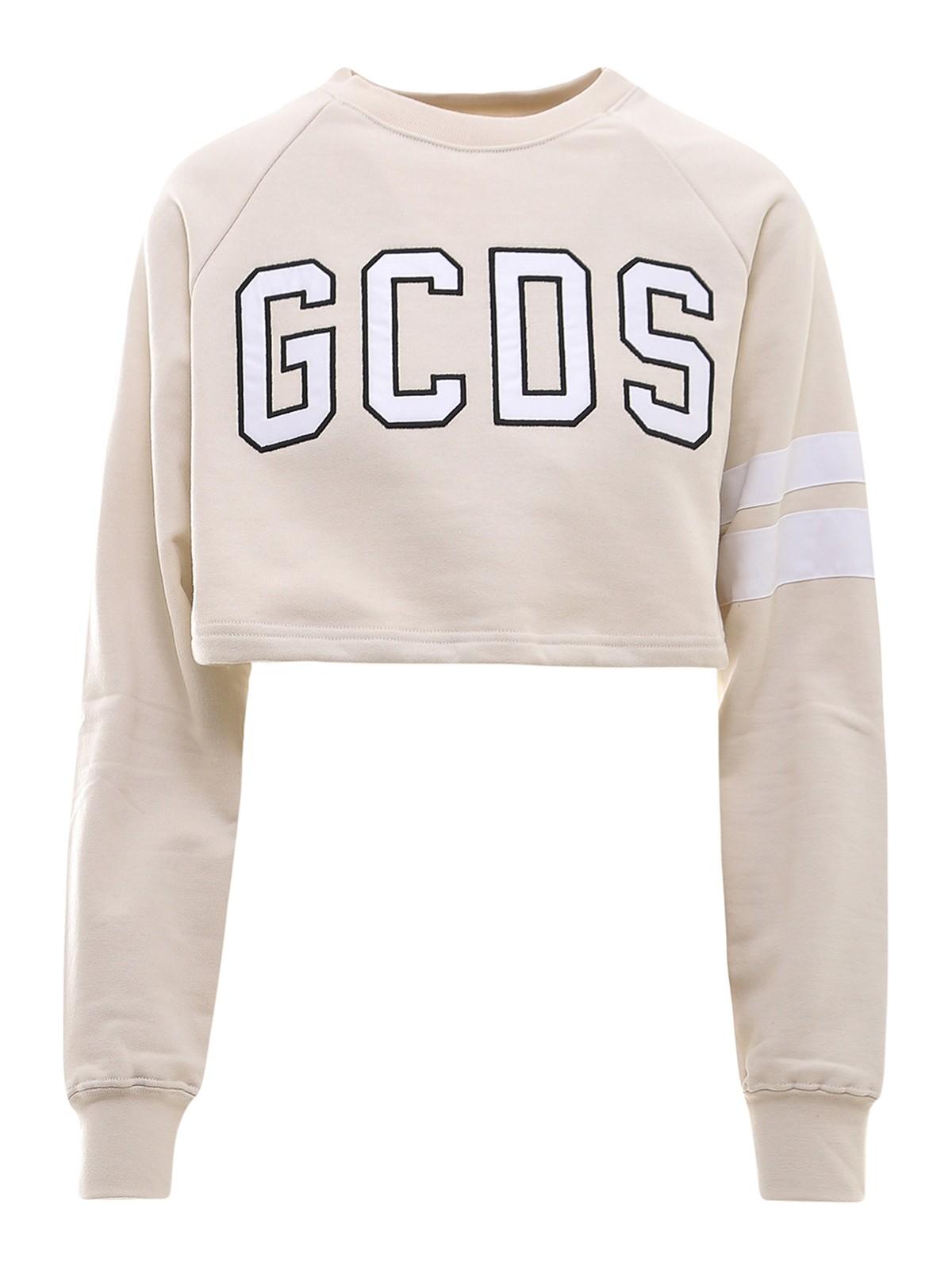 Gcds Cottons STRIPE DETAIL COTTON SWEATER