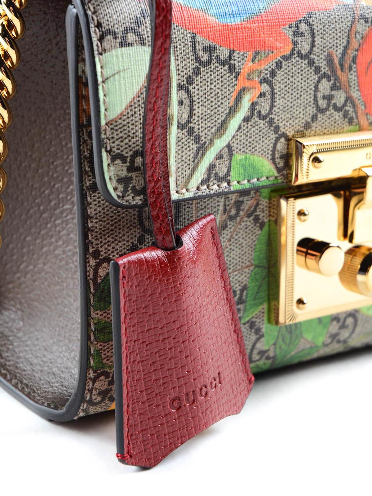30bd441772c Gucci - GG Supreme Tian padlock bag - shoulder bags - 409487K0L5G 8682