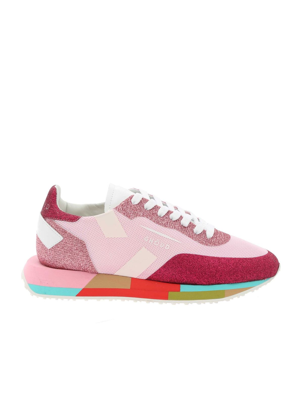 Ghoud Venice STARM SNEAKERS IN PINK AND FUCHSIA