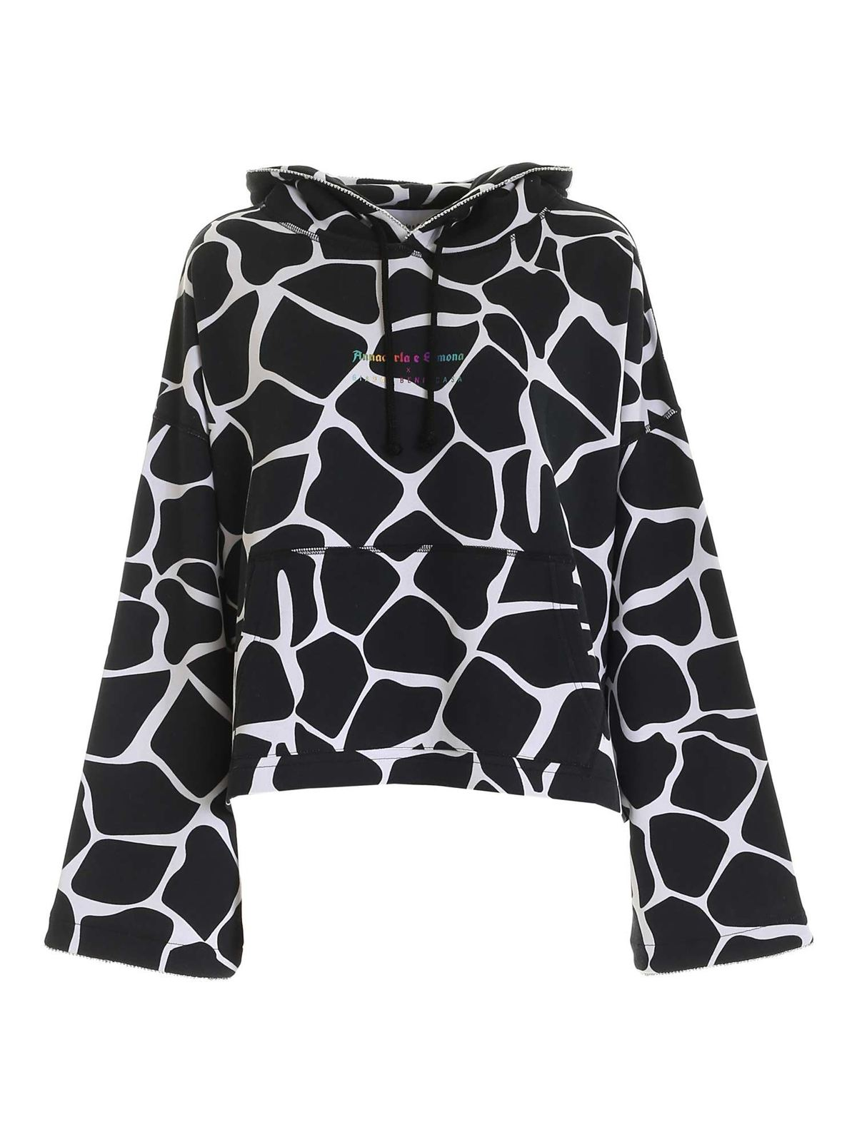Giada Benincasa HOODIE IN BLACK AND WHITE