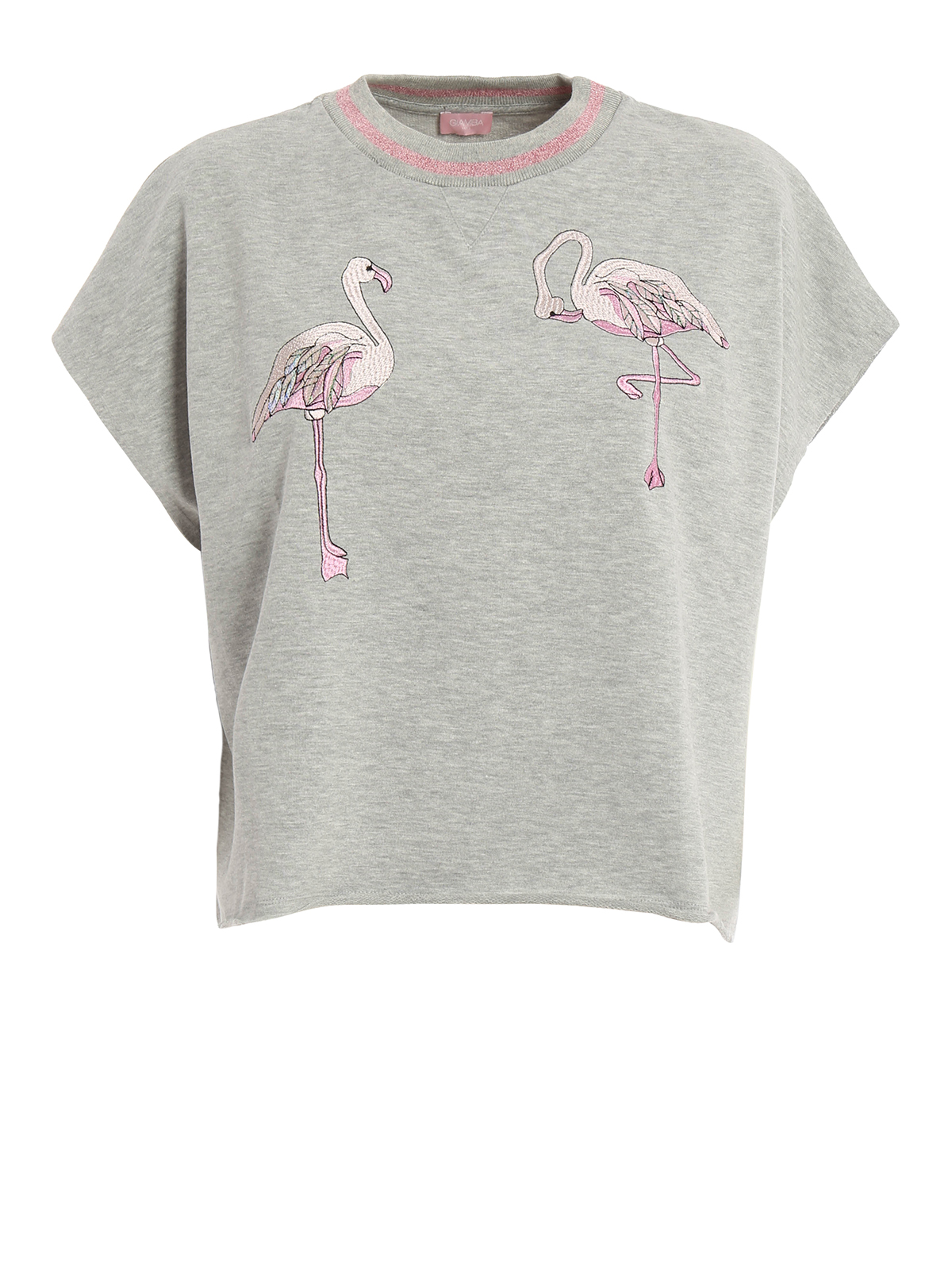Embroidered flamingo t shirt by giamba t shirts ikrix for How to embroider t shirts