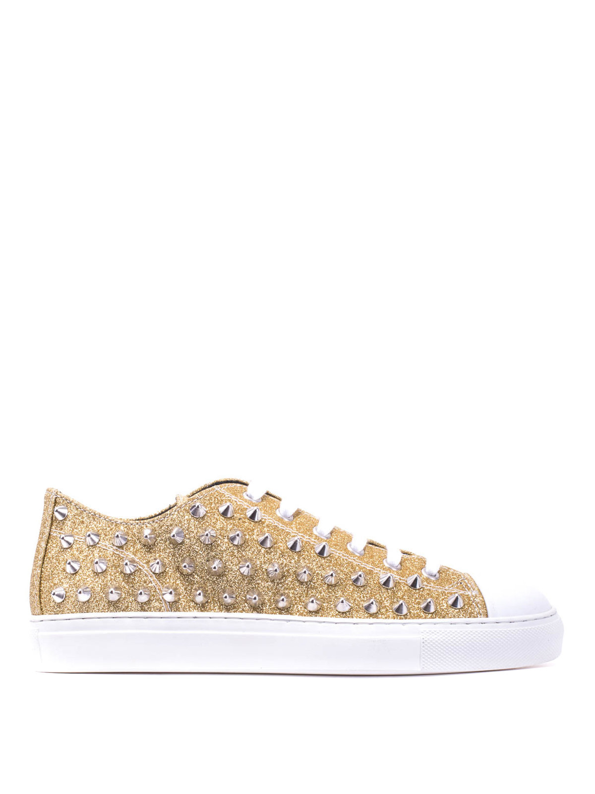 sale retailer c9502 48844 Gienchi - Studded low-top glitter sneakers - trainers ...