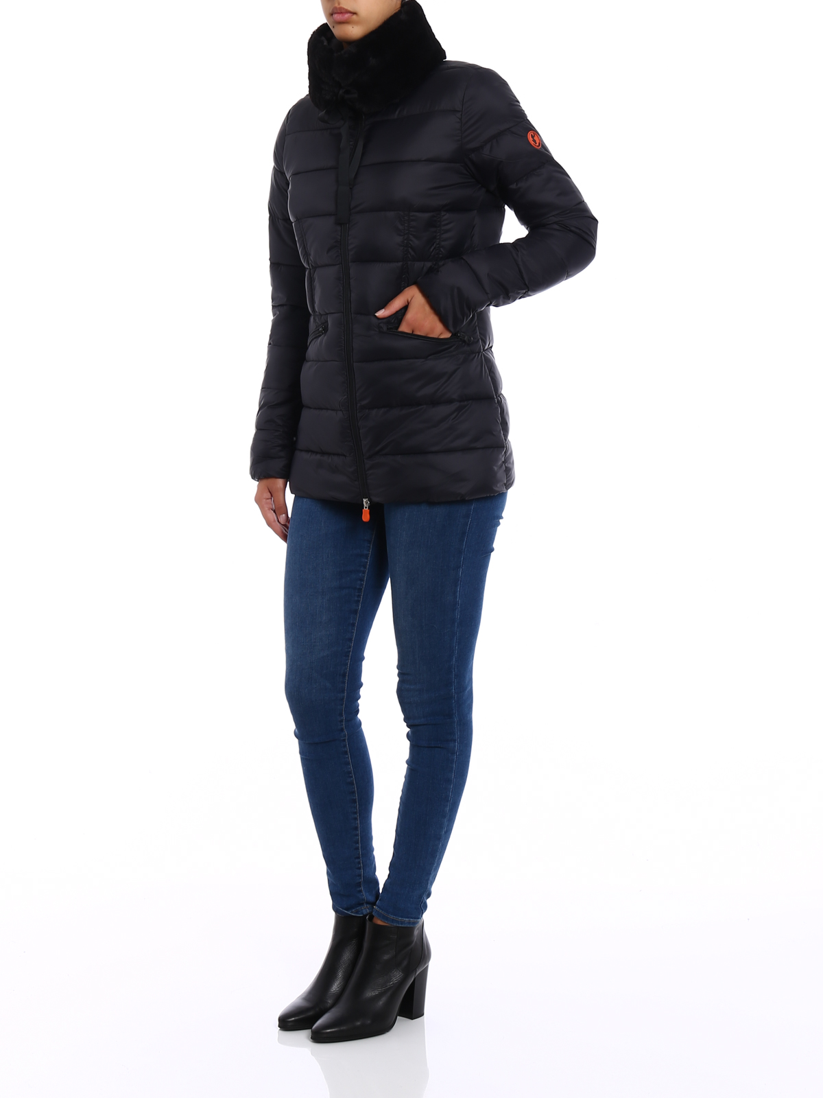 Save The Duck Giga Jacket With Faux Fur Collar Padded Jackets