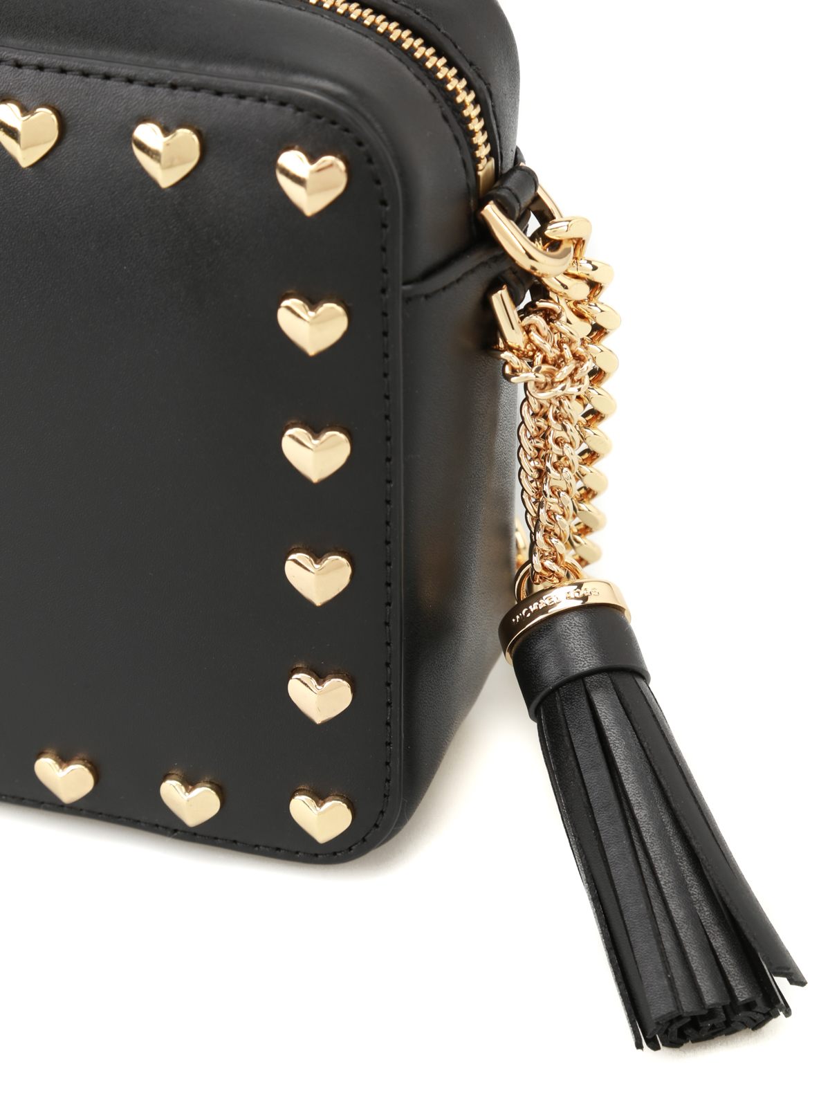 7129455456190 Michael Kors - Ginny black camera bag with hearts - cross body bags ...