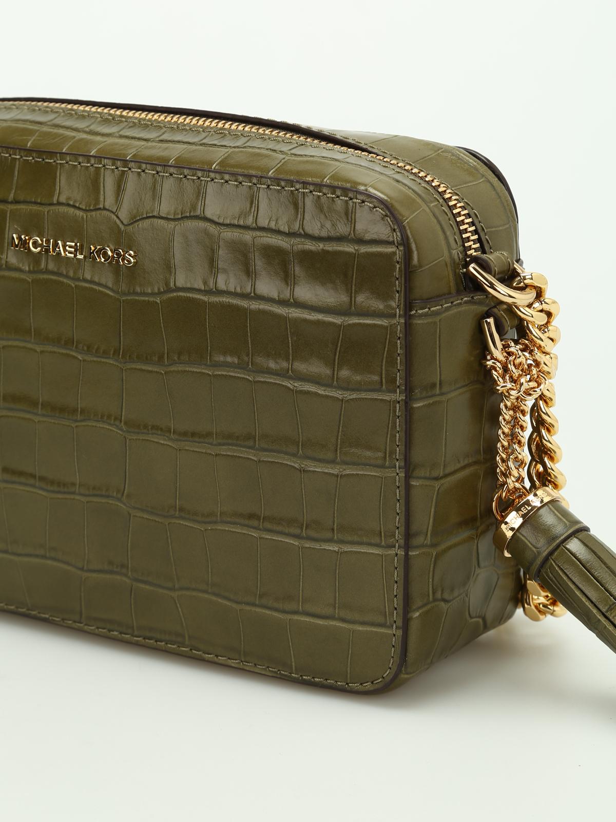 6158b19ee65b iKRIX MICHAEL KORS  cross body bags - Ginny embossed leather camera bag.  Ginny embossed leather camera bag shop online  MICHAEL KORS