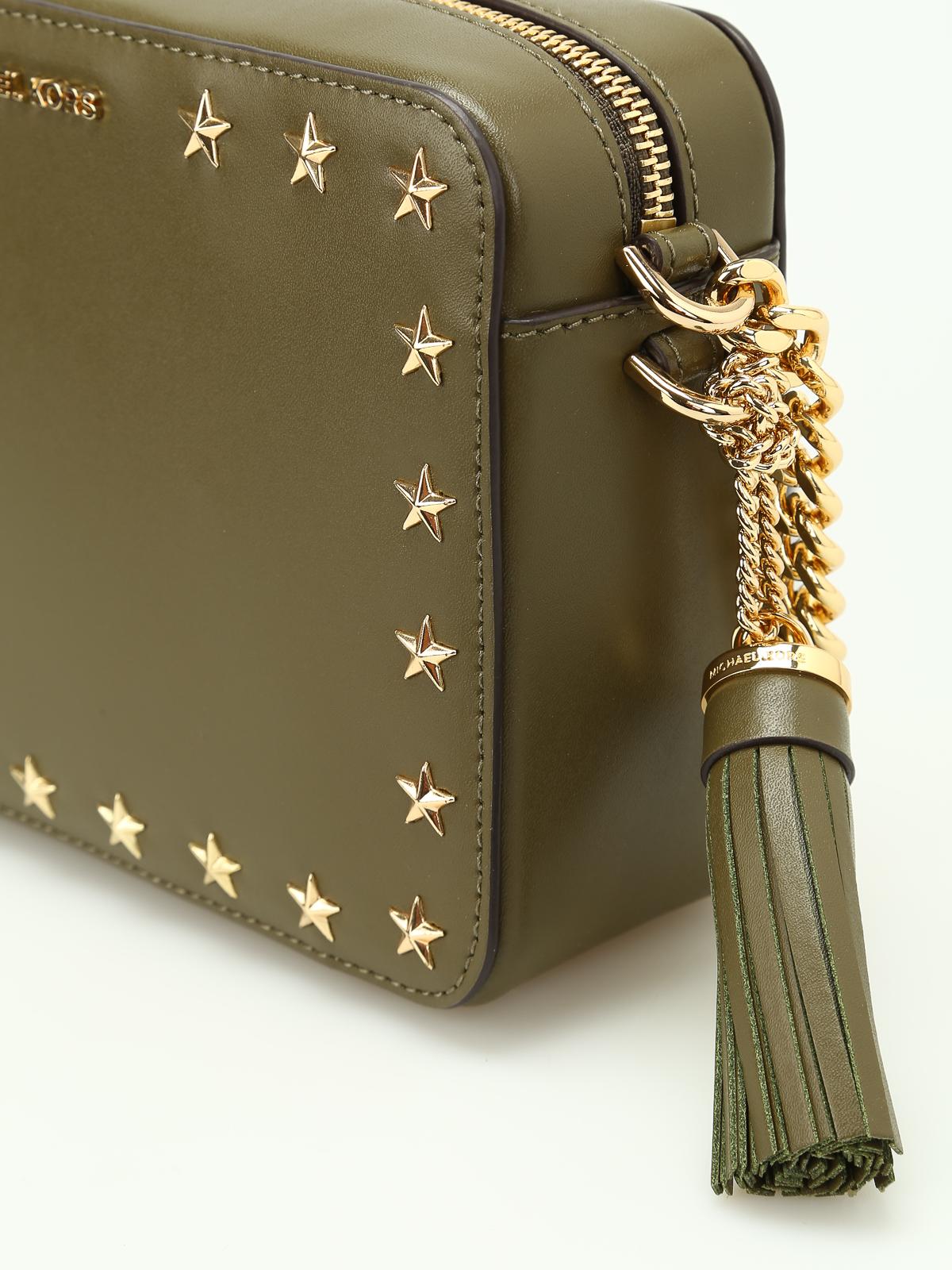 25e239e73620 Michael Kors - Ginny smooth leather camera bag - cross body bags ...