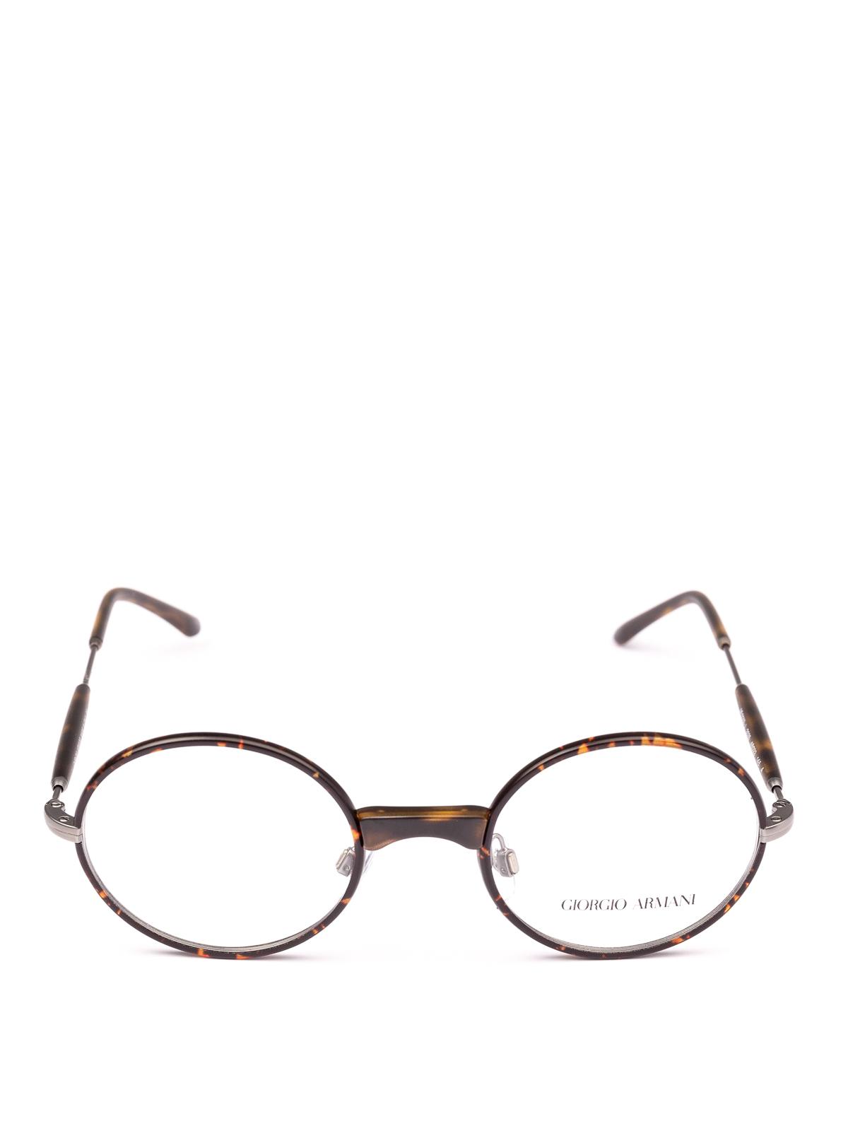 7a05fb4b5d8d GIORGIO ARMANI: Glasses online - Havana slender frame oval eyeglasses