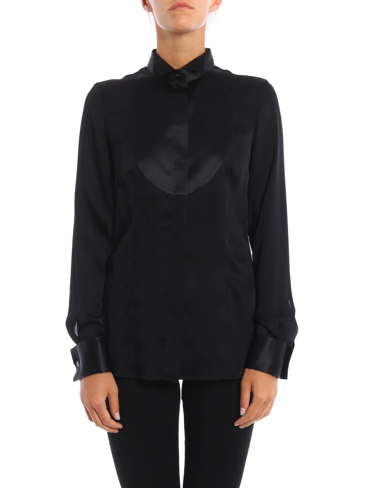 b1bd558b357 Giorgio Armani - Chemise Noir Pour Femme - Chemises - 0AC02T 0A06C 997