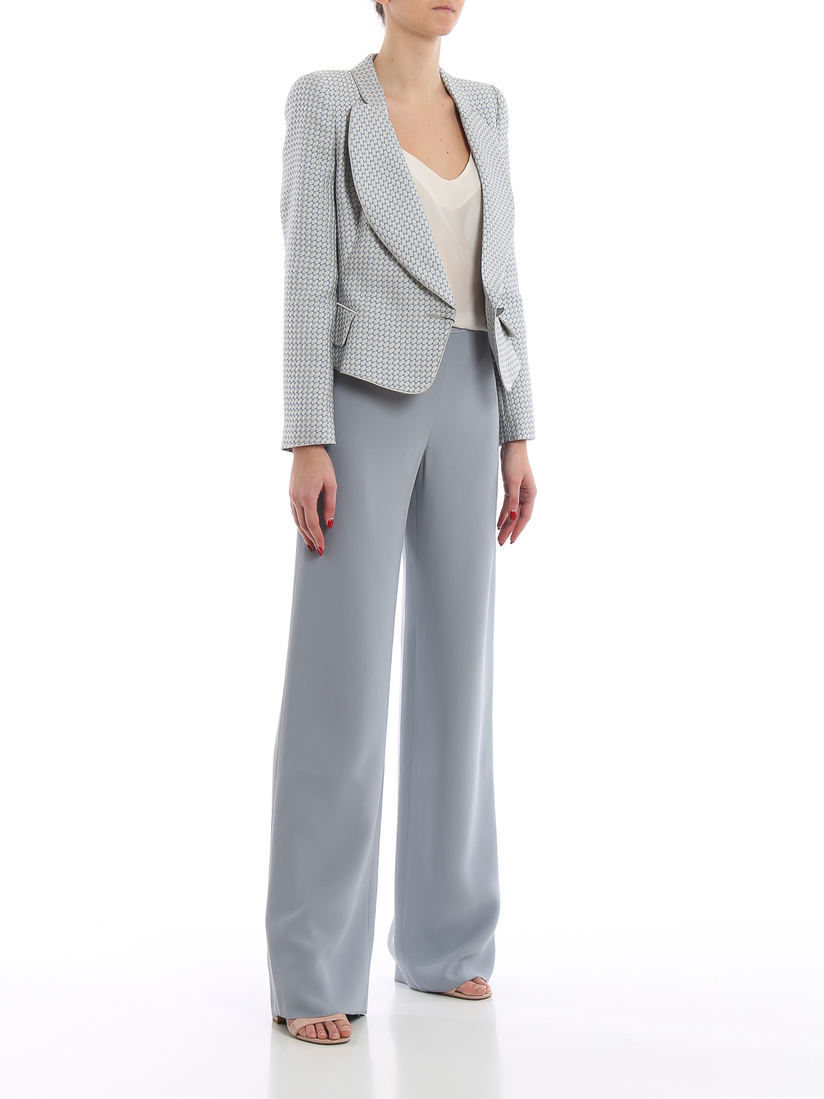 1f206fdc83 Giorgio Armani - Mulberry silk blend palazzo trousers - Tailored ...