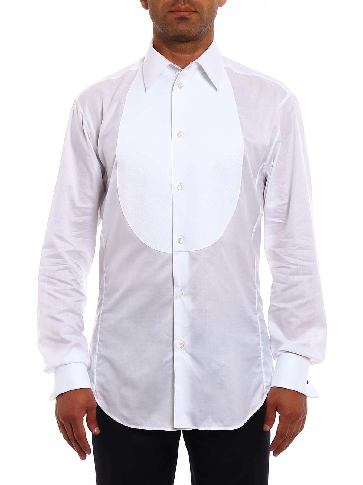 Camicia da smoking in cotone Giorgio Armani