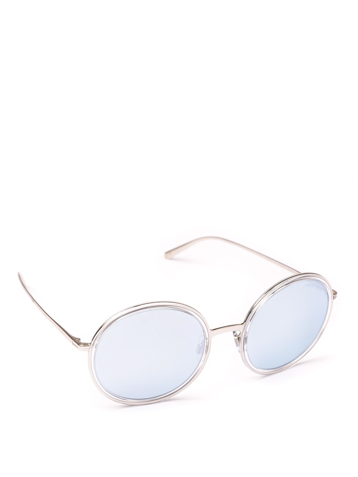 916ffc0ec6c1 GIORGIO ARMANI  sunglasses - Blue mirror white lens round sunglasses