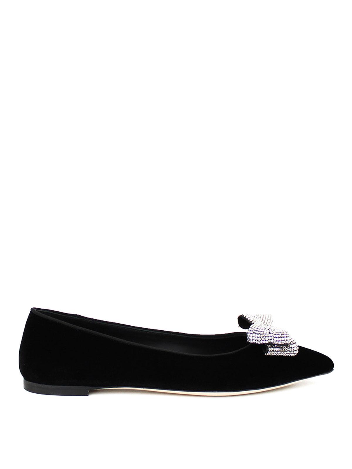 616037ffd95ccd Giuseppe Zanotti - Karolina rhinestone bow flat shoes - flat shoes ...