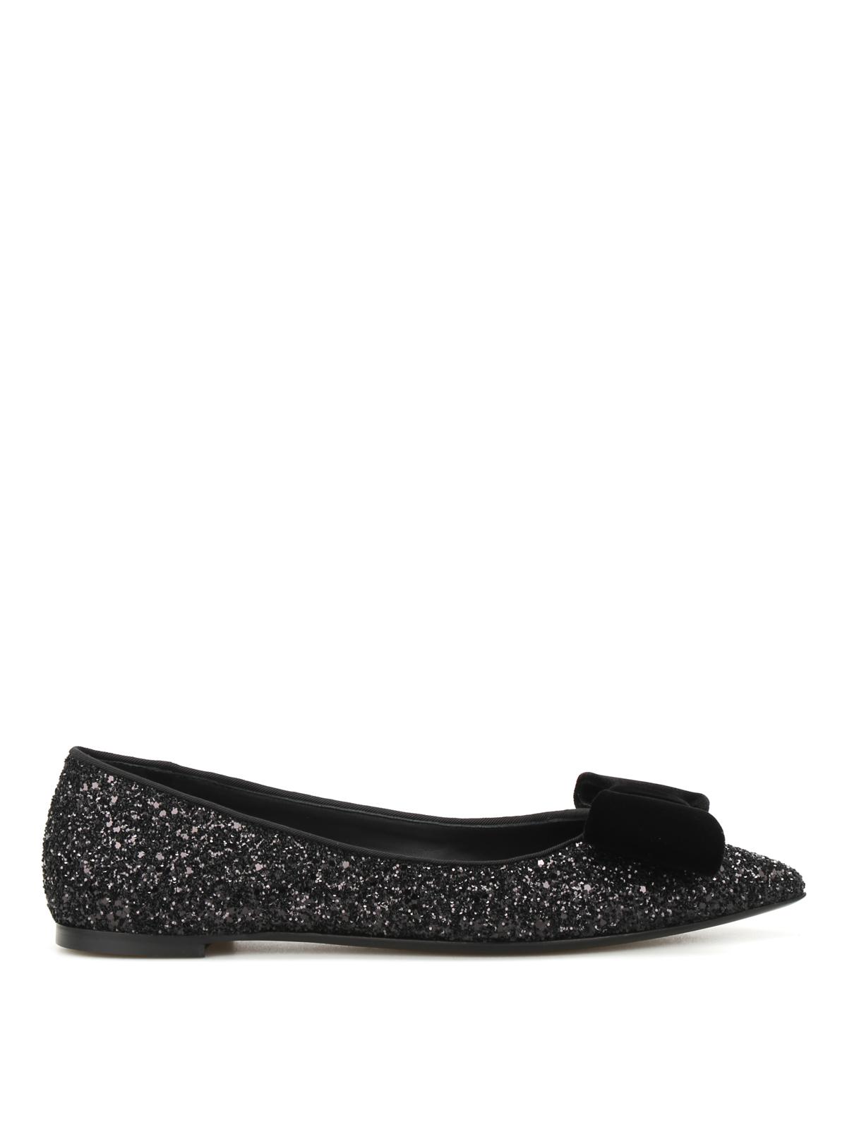 Lucrezia Glittered Flats By Giuseppe Zanotti - Flat Shoes ...