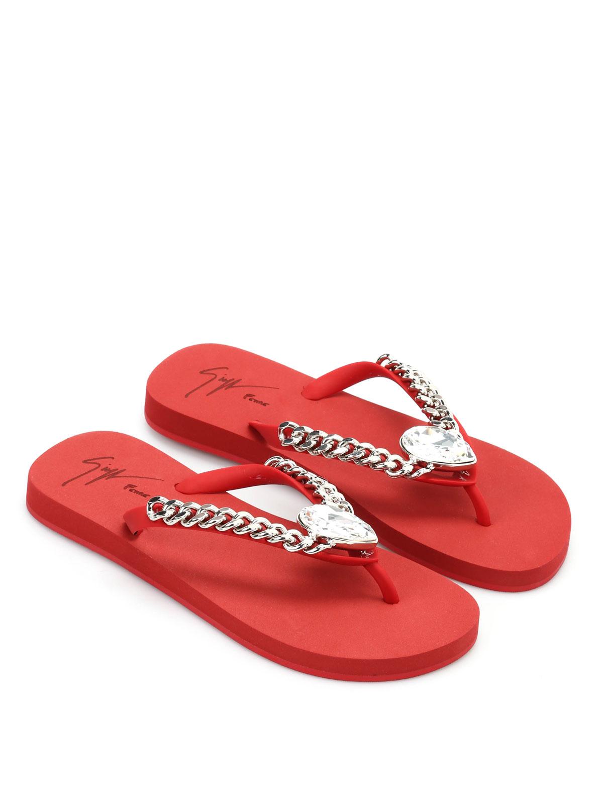 cff53bfd0ee9 Giuseppe Zanotti - Miami Beach rhinestone flip flops - flip flops ...