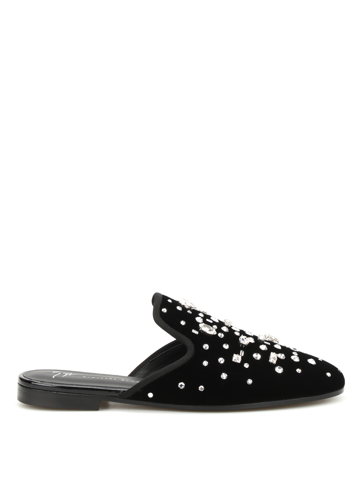 Giuseppe Zanotti Embellished Velvet Mules the best store to get lowest price sale online cheap sale manchester great sale clearance lowest price outlet locations online pcSuMvpweQ