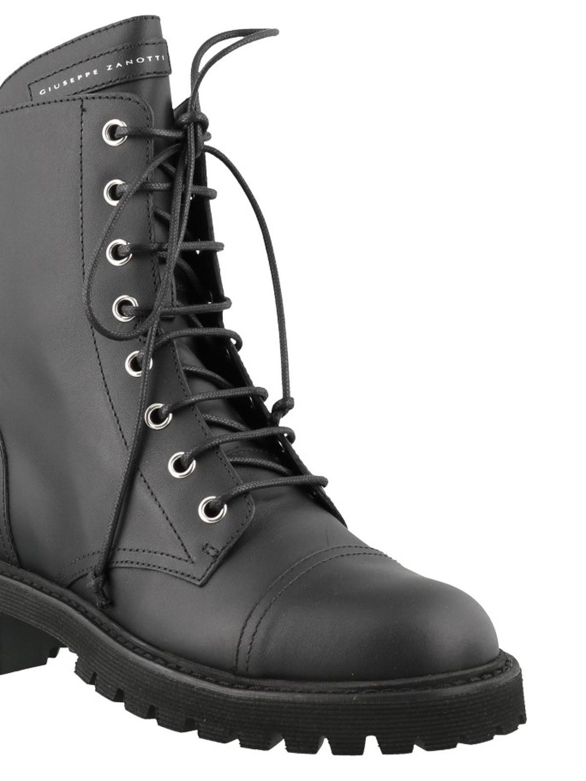 Thora black leather biker boots
