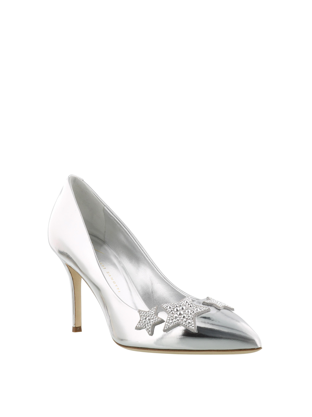a4b59044f6dfe GIUSEPPE ZANOTTI: court shoes online - Mirror leather embellished pumps