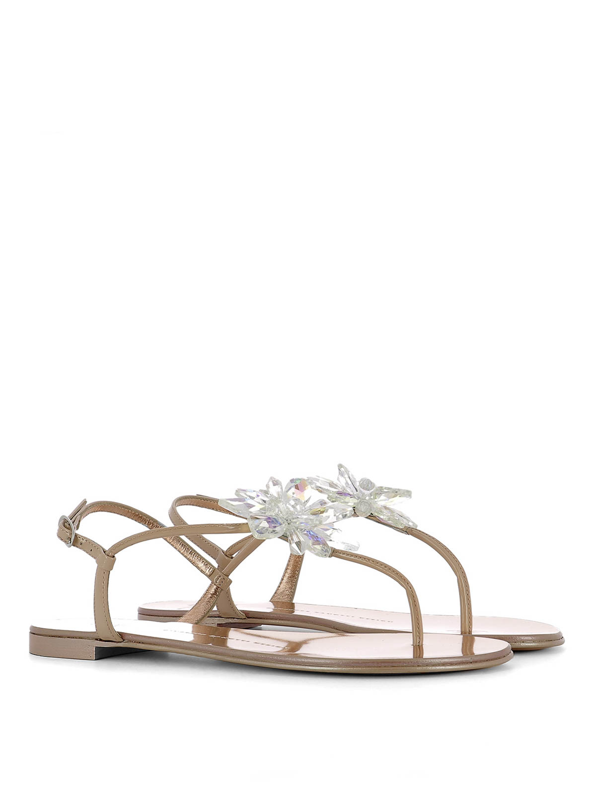 cf6c08765553 Giuseppe Zanotti - Letizia jewel flower sandals - sandals - E70028 003