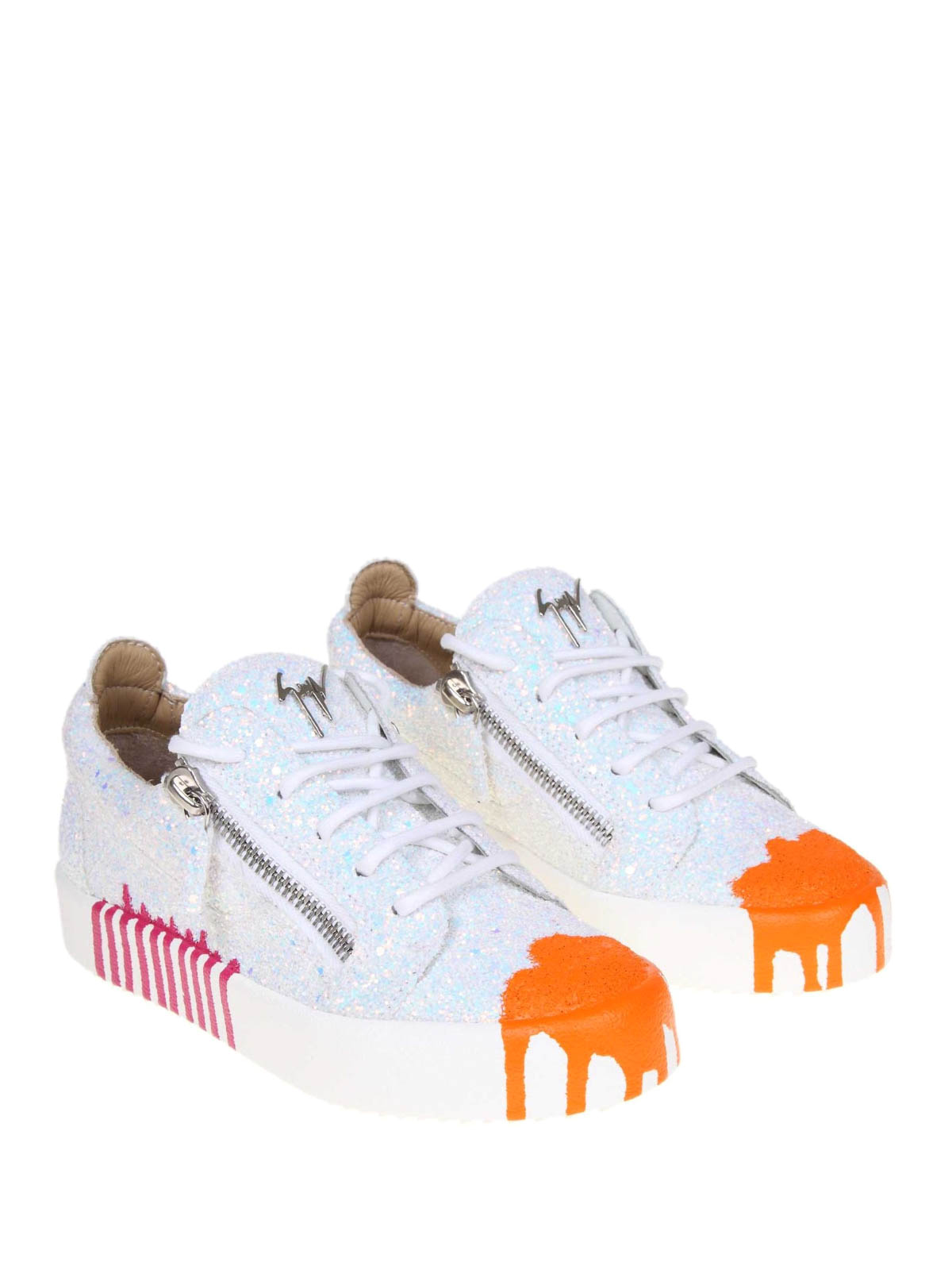 8984eb41c1df2 GIUSEPPE ZANOTTI: trainers online - Arrie paint effect glitter leather  sneakers