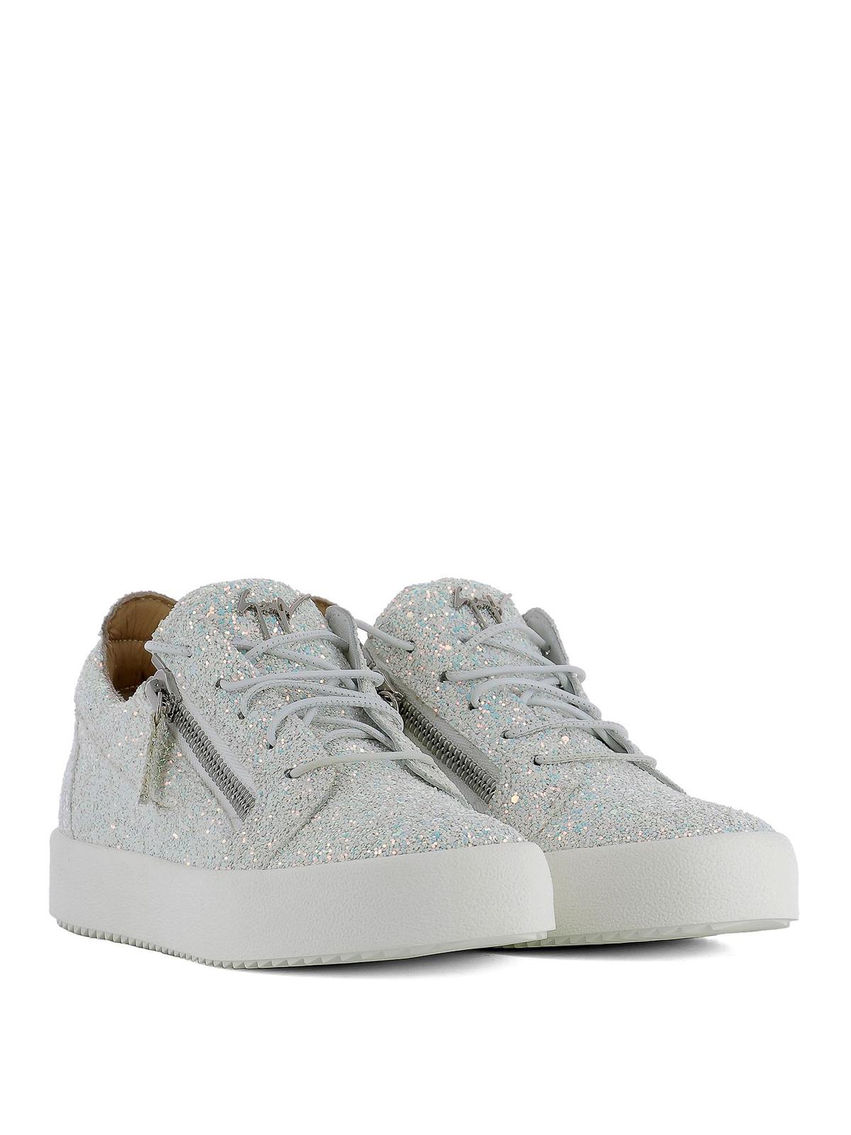 abf8ee5b1f82f GIUSEPPE ZANOTTI: trainers online - Cheryl Glitter fabric sneakers