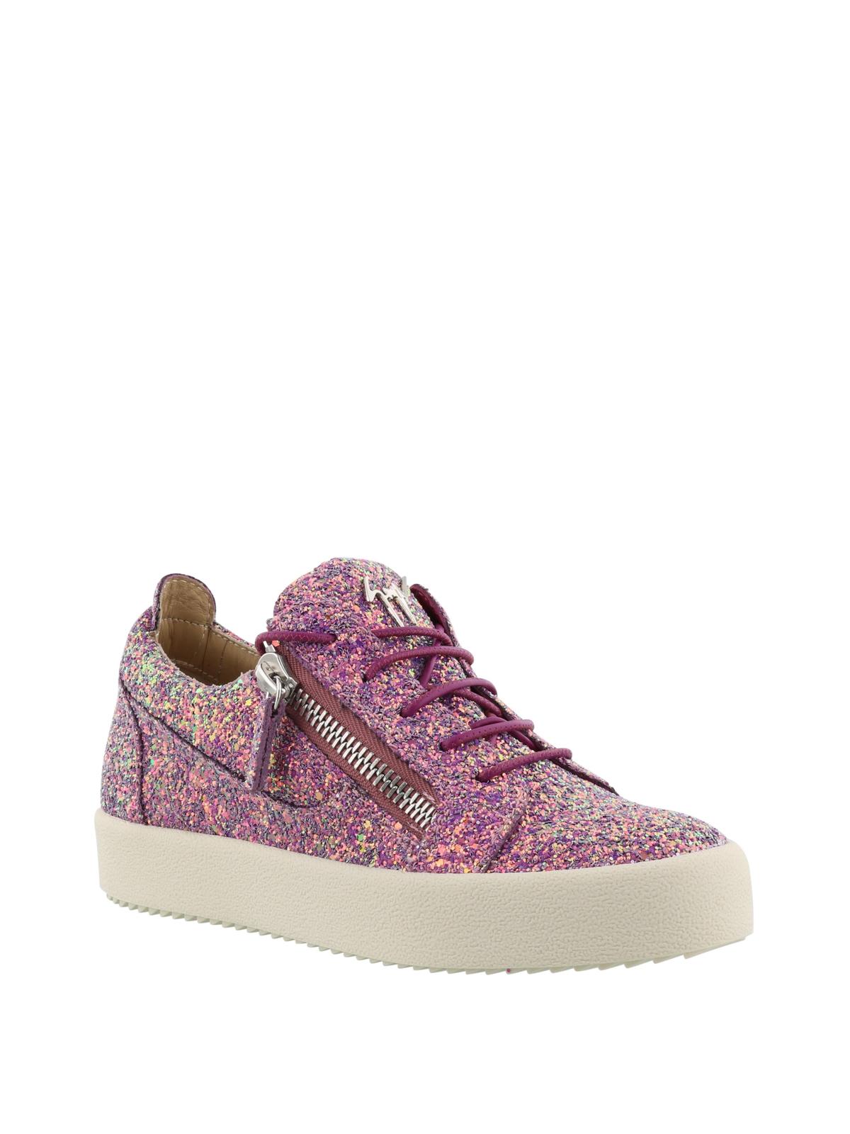 Cheryl Glitter purple sneakers