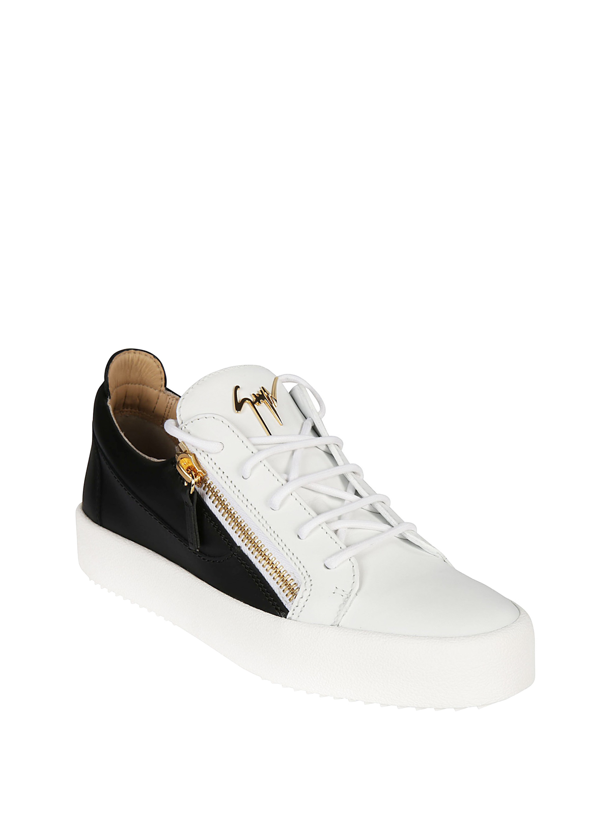 214412b7b610 GIUSEPPE ZANOTTI  trainers online - Frankie white and black leather sneakers