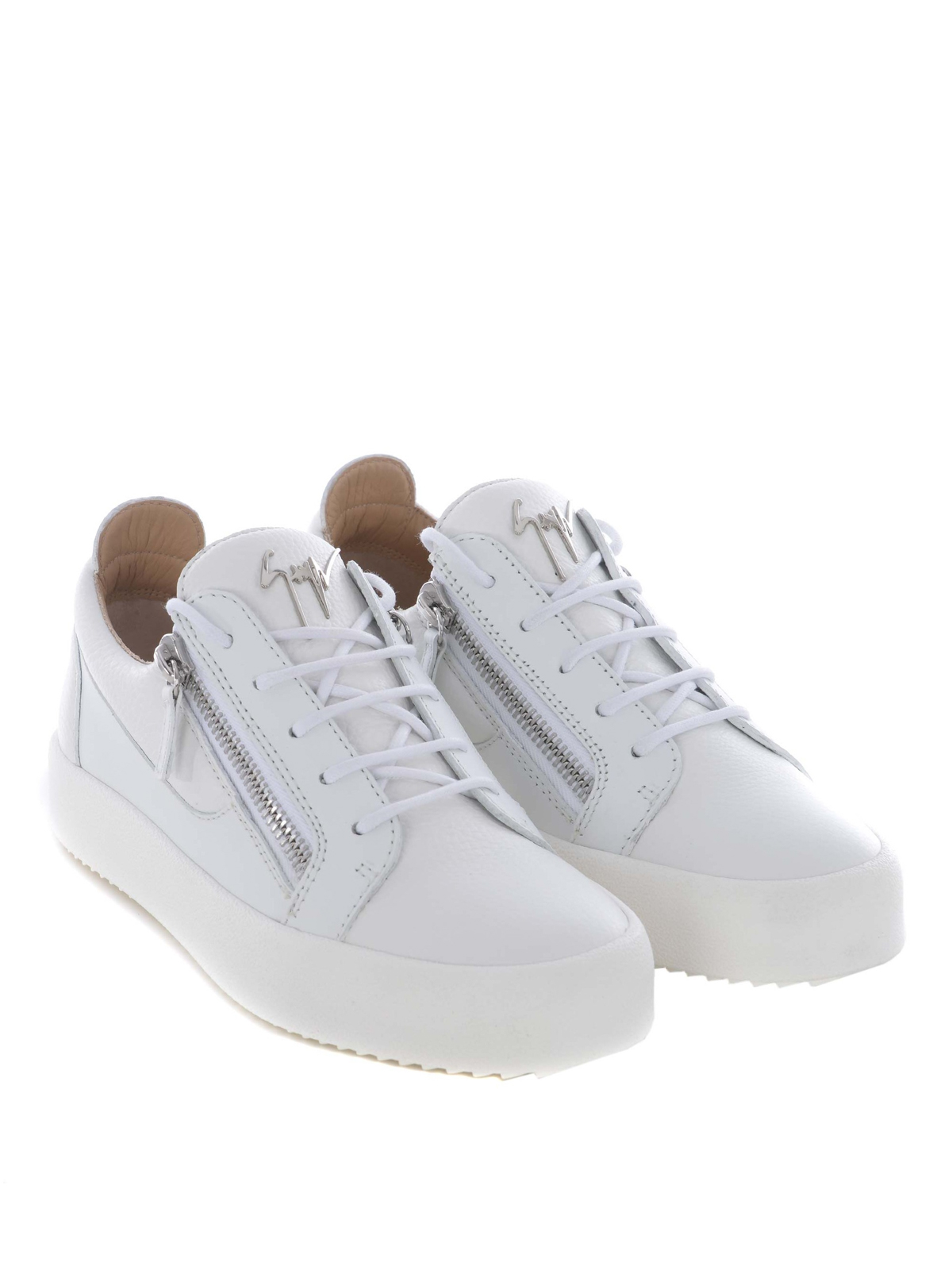 a6bd58dc3dcd4 GIUSEPPE ZANOTTI: trainers online - Frankie white leather sneakers