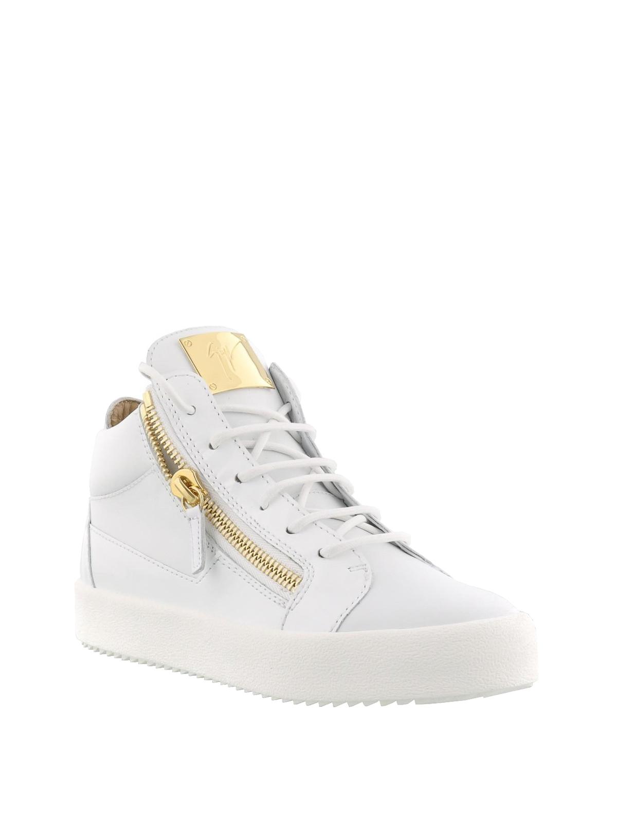 Giuseppe Zanotti Sneaker Kriss bianche in pelle e vernice