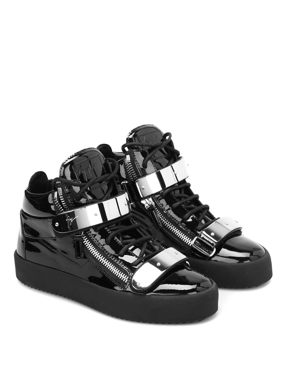 Giuseppe May sneakers leather de Zanotti Lond patent Chaussures 5rqnw15g6y