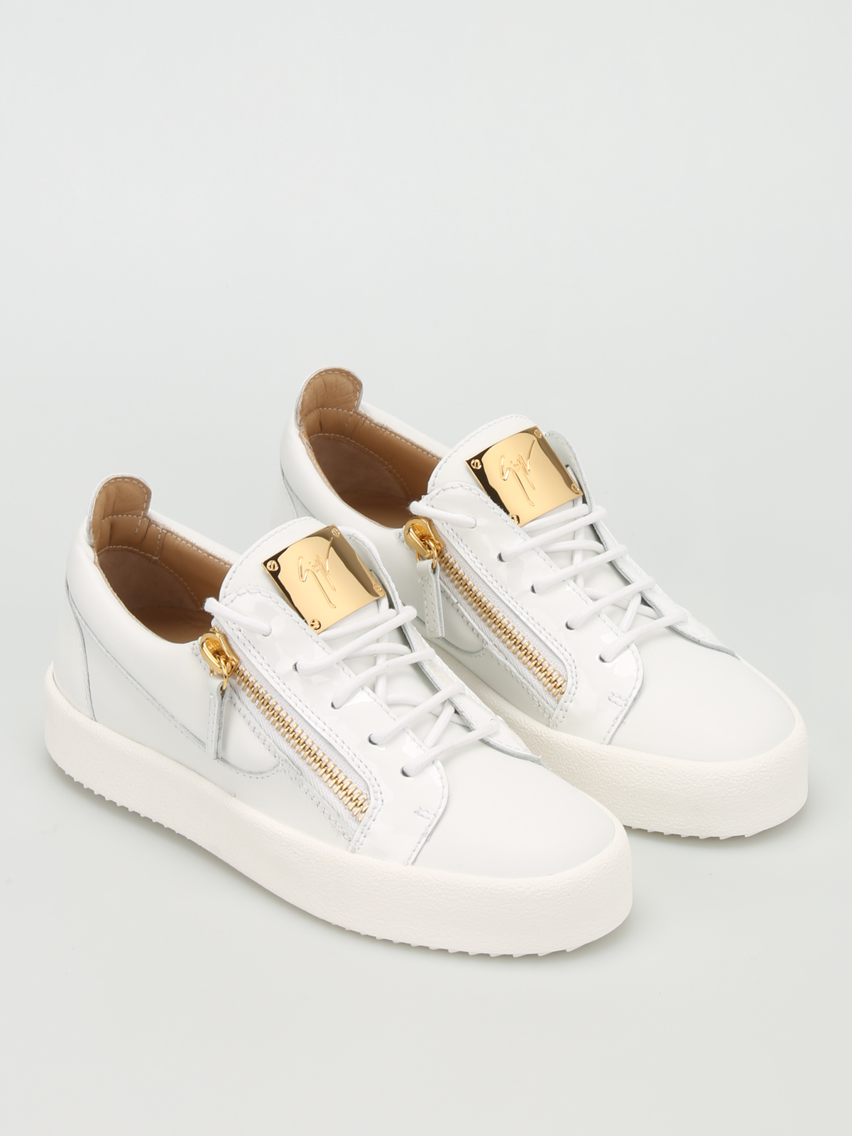 GIUSEPPE ZANOTTI  trainers online - May London leather low top sneakers b1f06add511