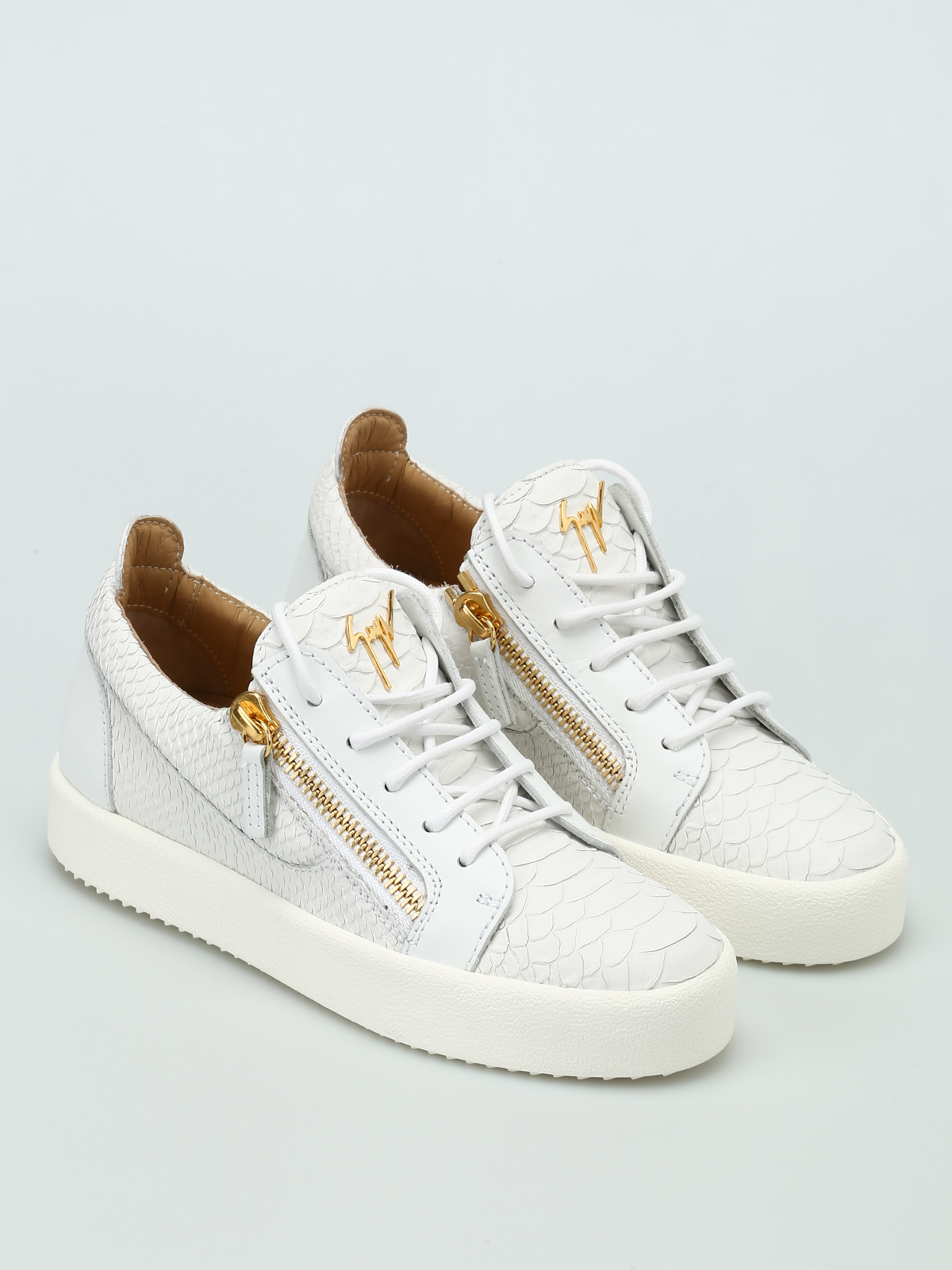 May London printed leather sneakers