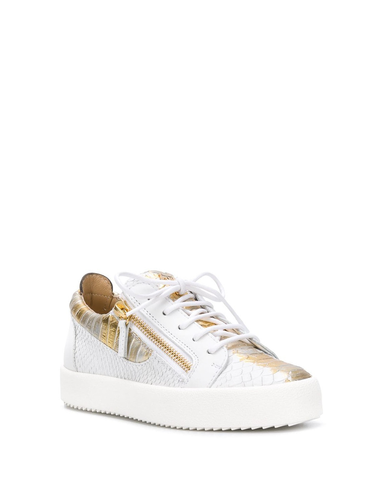 97565ff637e68 GIUSEPPE ZANOTTI: trainers online - May London reptile print leather  sneakers