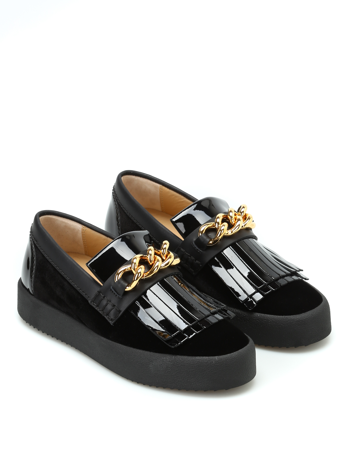41ec696587882 GIUSEPPE ZANOTTI: trainers online - May London slip-ons with gold chain