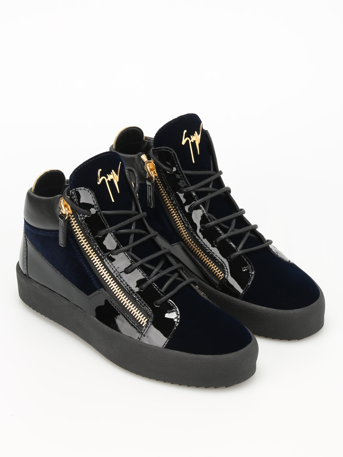 34b382593 GIUSEPPE ZANOTTI  trainers online - May London velvet high top sneakers