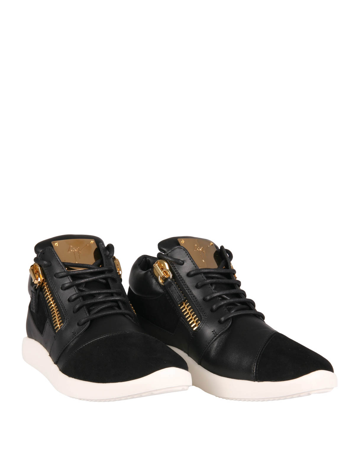 giuseppe zanotti sneaker fur damen schwarz sneaker. Black Bedroom Furniture Sets. Home Design Ideas
