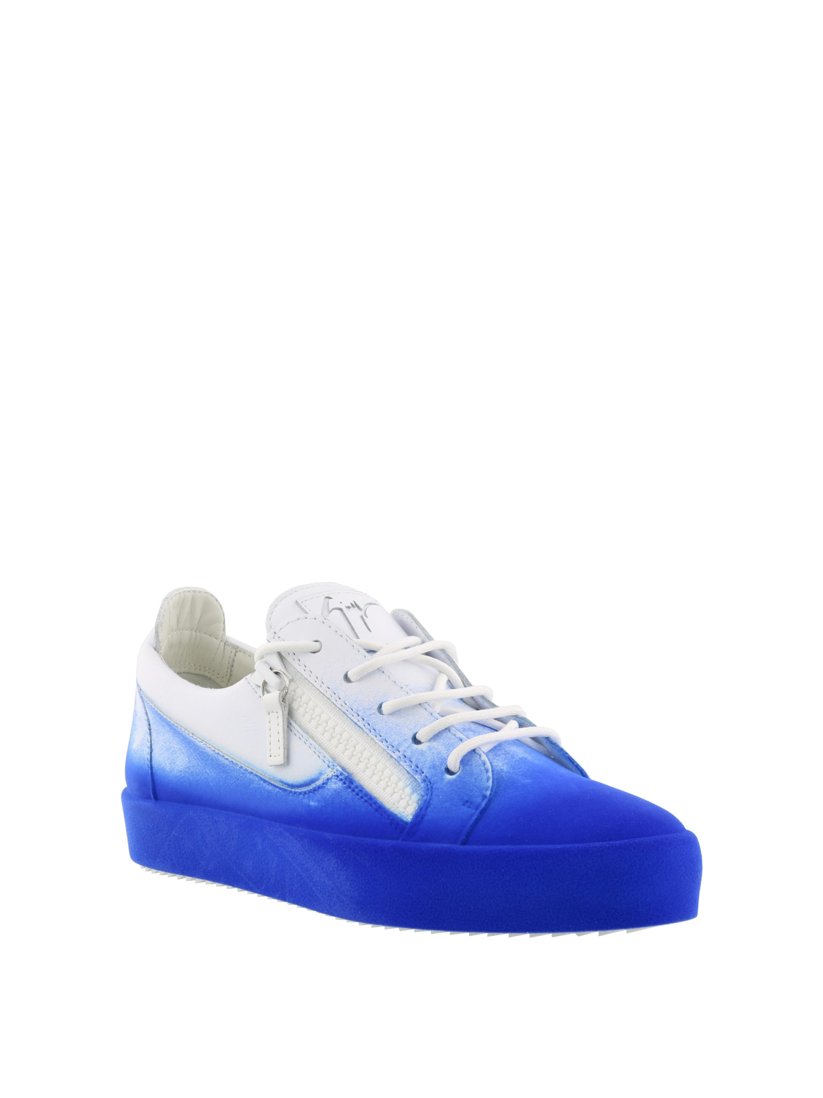 32536958040ce GIUSEPPE ZANOTTI: trainers online - New Unfinished blue coated sneakers