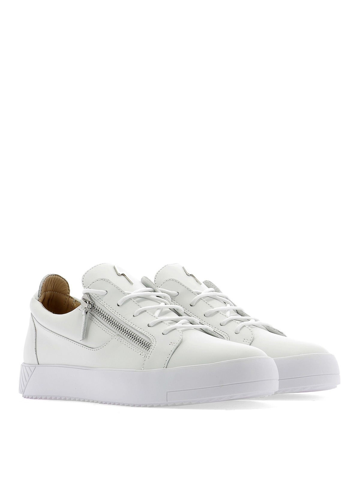 Thunder metal detail leather sneakers