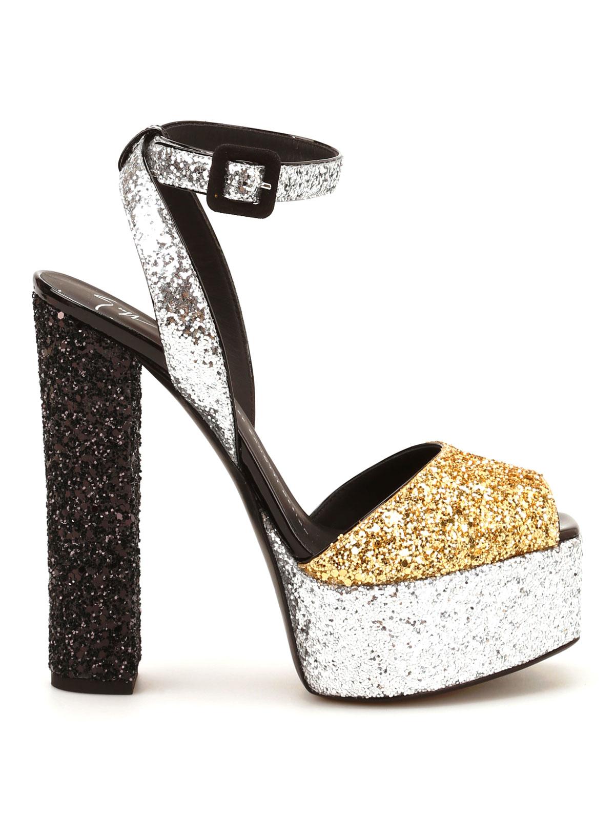 0441f6c6b048 Giuseppe Zanotti - Betty glittery platform sandals - sandals ...