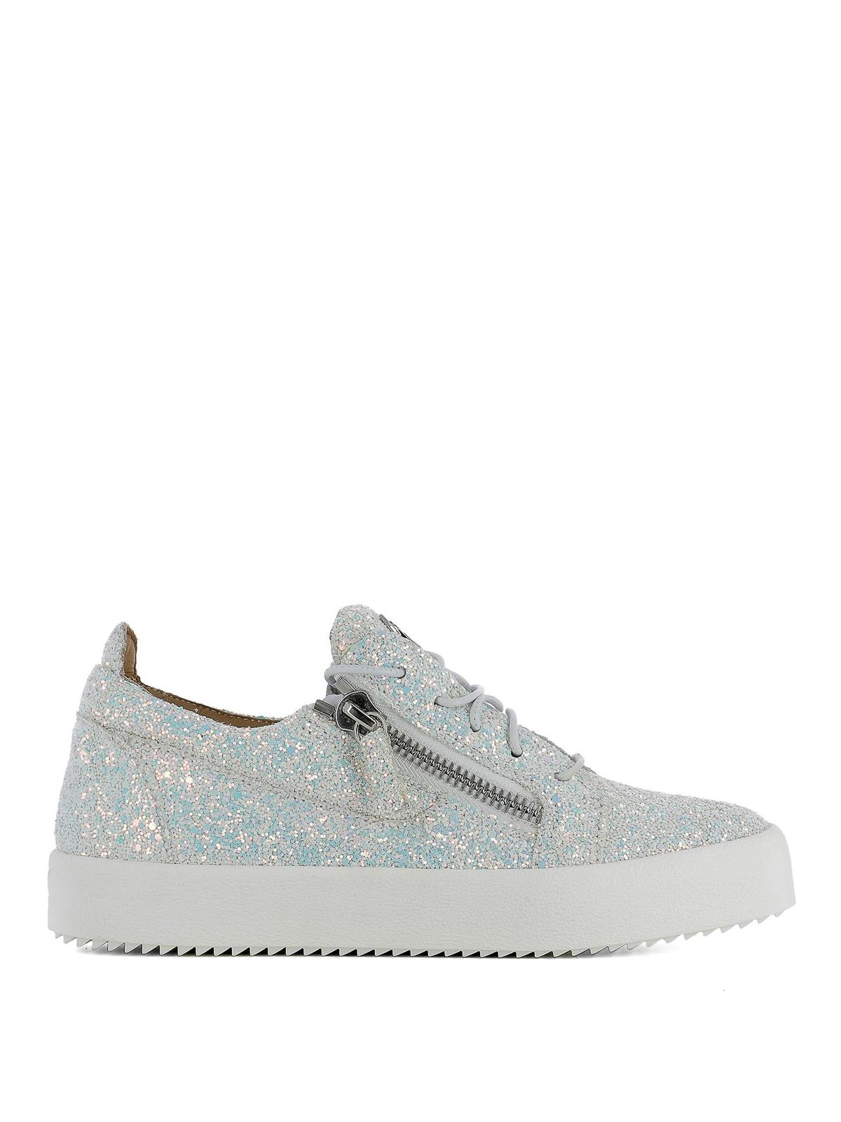770a9f6229db8 Giuseppe Zanotti - Cheryl Glitter fabric sneakers - trainers ...