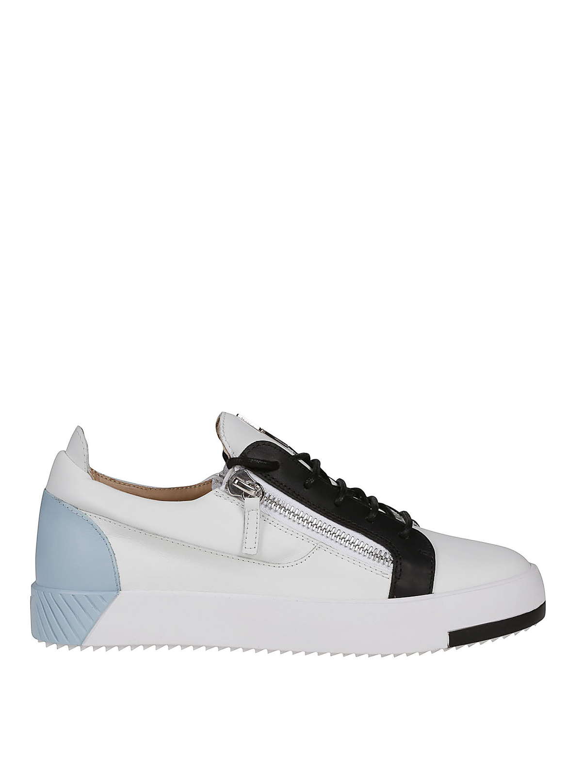 8d470e1f2a546 Giuseppe Zanotti - Frankie colour block leather sneakers - trainers ...
