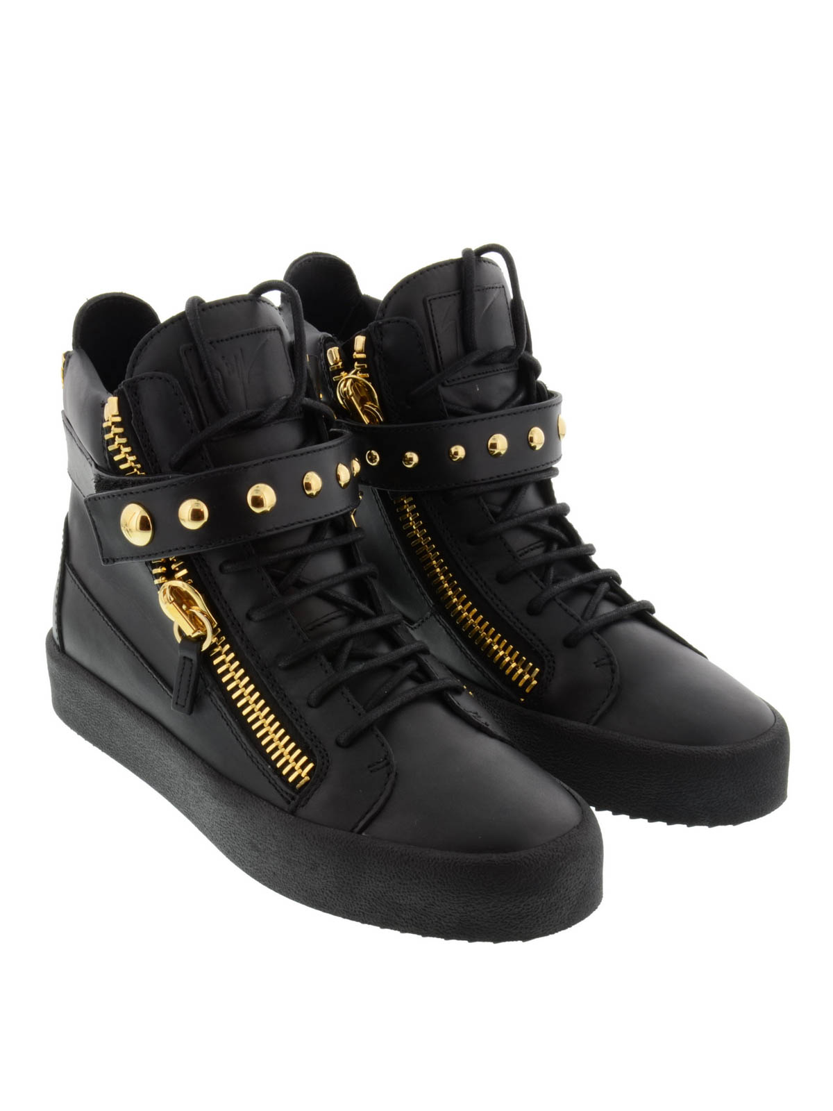 giuseppe zanotti high top riley sneakers trainers. Black Bedroom Furniture Sets. Home Design Ideas