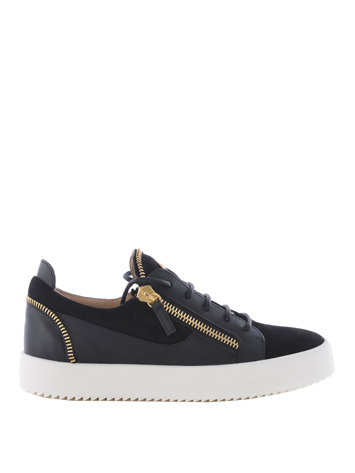 52bb3331440a1 Giuseppe Zanotti - Kirk Low zip details black sneakers - trainers ...